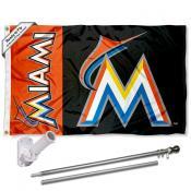 Miami Marlins Flag Pole and Bracket Kit