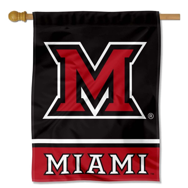"Miami MU Redhawks Banner Flag is constructed of polyester material, is a vertical house flag, measures 30""x40"", offers screen printed athletic insignias, and has a top pole sleeve to hang vertically. Our Miami MU Redhawks Banner Flag is Officially Licensed by Miami MU Redhawks and NCAA."