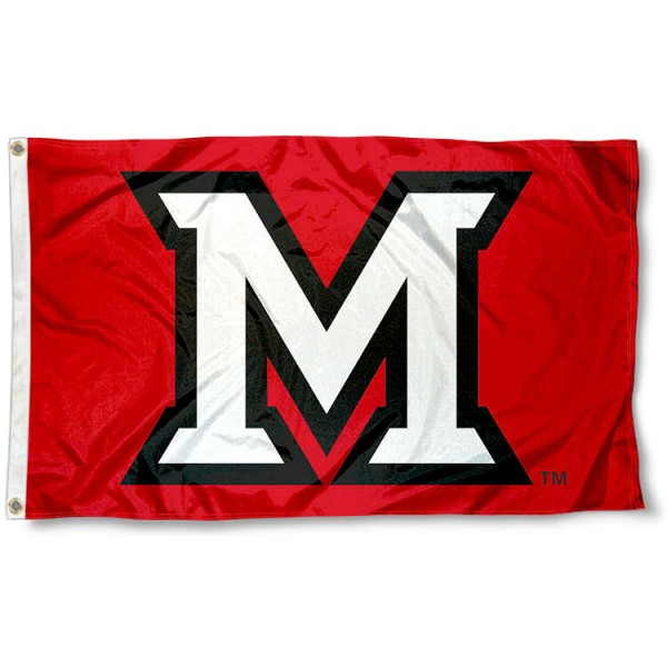 Miami Redhawks Beveled M Flag measures 3x5 feet, is made of 100% polyester, offers quadruple stitched flyends, has two metal grommets, and offers screen printed NCAA team logos and insignias. Our Miami Redhawks Beveled M Flag is officially licensed by the selected university and NCAA.