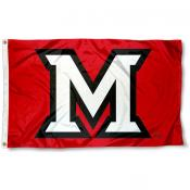 Miami Redhawks Beveled M Flag