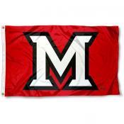 Miami Redhawks Beveled M Flag