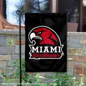 Miami Redhawks Black Garden Flag