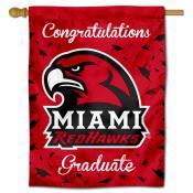 Miami Redhawks Congratulations Graduate Flag
