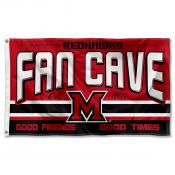Miami Redhawks Fan Man Cave Game Room Banner Flag
