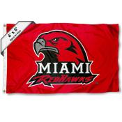 Miami Redhawks Large 4x6 Flag