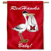 Miami Redhawks New Baby Flag