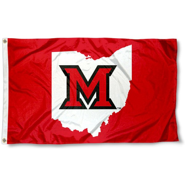 Miami Redhawks Ohio State Logo Flag measures 3x5 feet, is made of 100% polyester, offers quadruple stitched flyends, has two metal grommets, and offers screen printed NCAA team logos and insignias. Our Miami Redhawks Ohio State Logo Flag is officially licensed by the selected university and NCAA.
