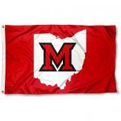 Miami Redhawks Ohio State Logo Flag