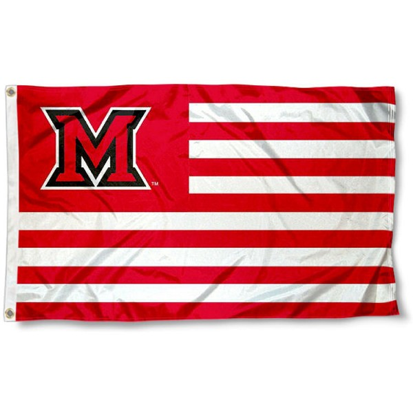 Miami Redhawks Stripes Flag measures 3'x5', is made of polyester, offers double stitched flyends for durability, has two metal grommets, and is viewable from both sides with a reverse image on the opposite side. Our Miami Redhawks Stripes Flag is officially licensed by the selected school university and the NCAA.