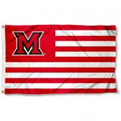 Miami Redhawks Stripes Flag