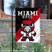 Miami University Tokyo Dachi Mascot Yard Flag