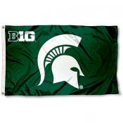 Michigan State Big 10 Flag