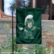 Michigan State Spartans Baby Sparty Garden Flag