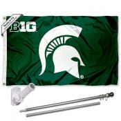 Michigan State Spartans Big Ten Flag Pole and Bracket Kit