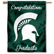 Michigan State Spartans Congratulations Graduate Flag