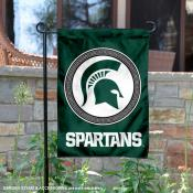 Michigan State Spartans Double Sided Shield Logo Garden Flag