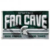 Michigan State Spartans Fan Man Cave Game Room Banner Flag