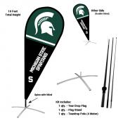 Michigan State Spartans Feather Flag Kit