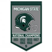Michigan State Spartans Football National Champions Banner