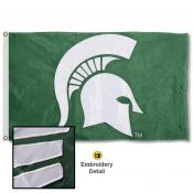 Michigan State Spartans Nylon Embroidered Flag