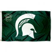 Michigan State Spartans Operation Hat Trick Flag