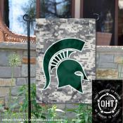 Michigan State Spartans Operation Hat Trick Garden Flag