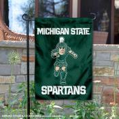 Michigan State Spartans Running Sparty Garden Flag