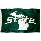 Michigan State Spartans State of Michigan Flag