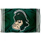 Michigan State Spartans Throwback Vault Logo Flag