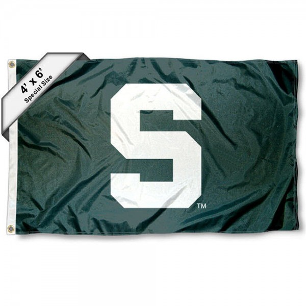Michigan State University 4x6 Flag measures a huge 4x6 feet, is made of 100% nylon, offers quadruple stitched flyends, has two brass grommets, and offers embroidered NCAA team logos and insignias. Our Michigan State University 4x6 Flag is officially licensed by the selected university and NCAA