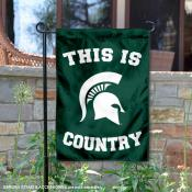 Michigan State University Country Garden Flag