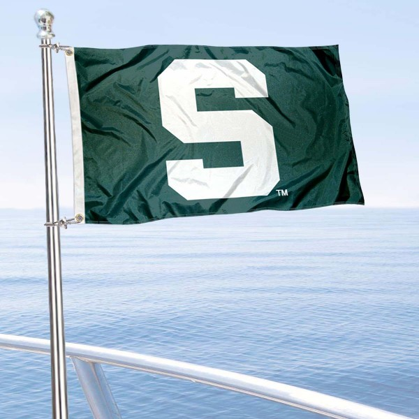 Michigan State University Golf Cart Flag is a small 12x18 inches, made of 2-ply polyester with quad stitched flyends, and is double-sided. Our Golf Cart Logo Flags are Officially Licensed and Approved by Michigan State and NCAA.