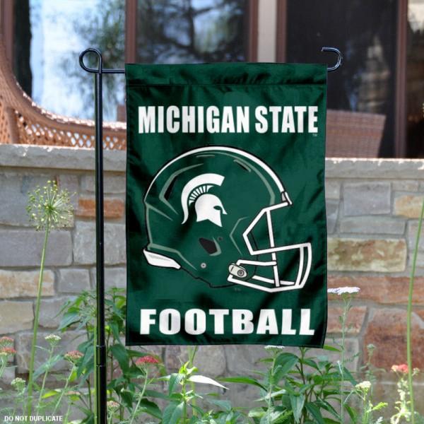 Michigan State University Football Helmet Garden Banner