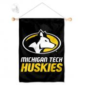 Michigan Tech Huskies Banner with Suction Cup