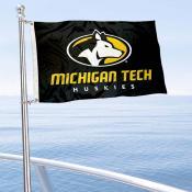 Michigan Tech Huskies Boat and Mini Flag