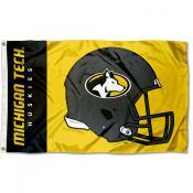 Michigan Tech Huskies Football Helmet Flag