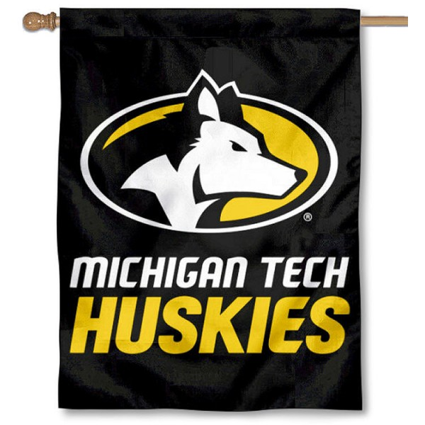 Michigan Tech Huskies House Flag is a vertical house flag which measures 30x40 inches, is made of 2 ply 100% polyester, offers screen printed NCAA team insignias, and has a top pole sleeve to hang vertically. Our Michigan Tech Huskies House Flag is officially licensed by the selected university and the NCAA.