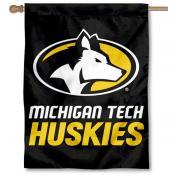 Michigan Tech Huskies House Flag