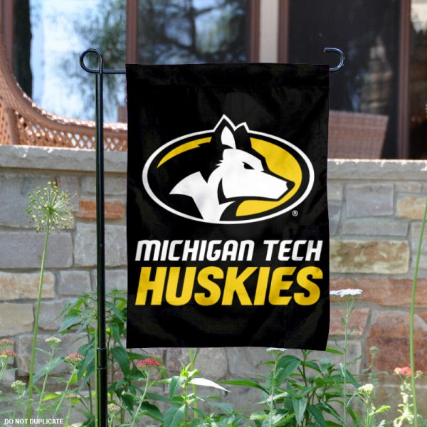 Michigan Tech University Garden Flag is 13x18 inches in size, is made of 2-layer polyester, screen printed university athletic logos and lettering, and is readable and viewable correctly on both sides. Available same day shipping, our Michigan Tech University Garden Flag is officially licensed and approved by the university and the NCAA.