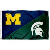 Michigan vs Michigan State House Divided 3x5 Flag