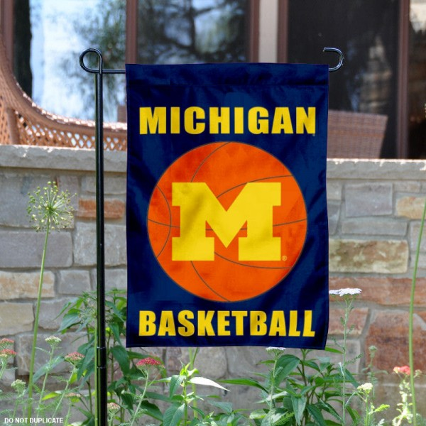 Michigan Wolverines Basketball Garden Banner is 13x18 inches in size, is made of 2-layer polyester, screen printed athletic logos and lettering. Available with Same Day Express Shipping, Our Michigan Wolverines Basketball Garden Banner is officially licensed and approved by the school and the NCAA.