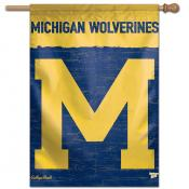 Michigan Wolverines College Vault Logo House Flag
