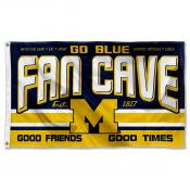 Michigan Wolverines Fan Man Cave Game Room Banner Flag