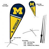 Michigan Wolverines Feather Flag Kit
