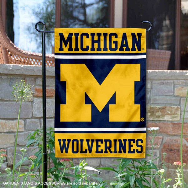 Michigan Wolverines Garden Flag is 13x18 inches in size, is made of 2-layer polyester, screen printed logos and lettering. Available with Same Day Express Shipping, Our Michigan Wolverines Garden Flag is officially licensed and approved by the NCAA.