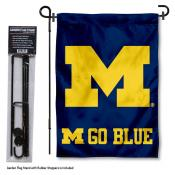 Michigan Wolverines Garden Flag and Stand