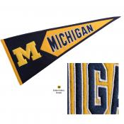 Michigan Wolverines Genuine Wool Pennant