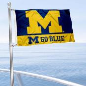 Michigan Wolverines Go Blue Boat Flag
