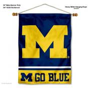 Michigan Wolverines Go Blue Wall Banner