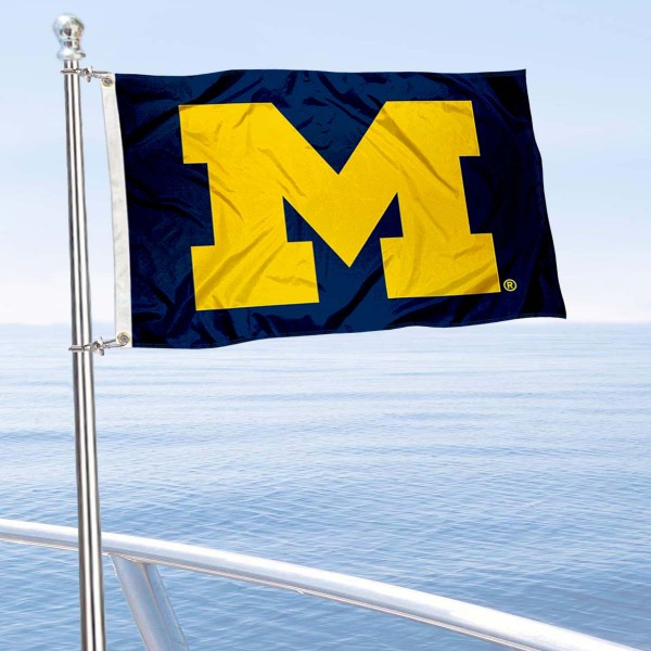 Michigan Wolverines Golf Cart Flag is a small 12x18 inches, made of 2-ply polyester with quad stitched flyends, and is double-sided. Our Golf Cart Logo Flags are Officially Licensed and Approved by University of Michigan and NCAA.